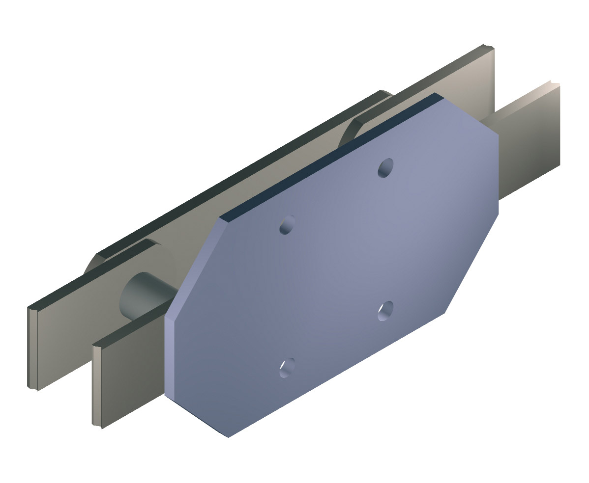 Attachment type F for CICSA solid pin conveyor chains